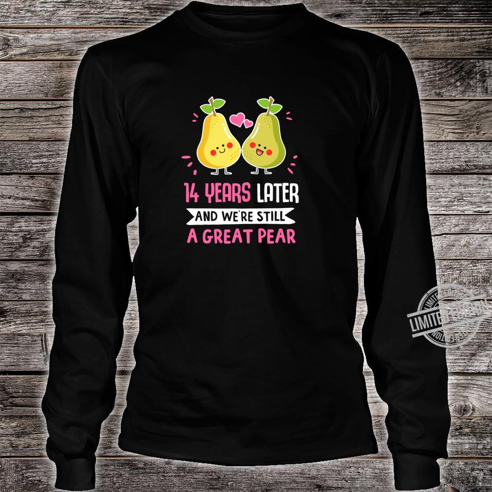 14 Years Anniversary 14th Year Anniversary Idea for Her Shirt long sleeved
