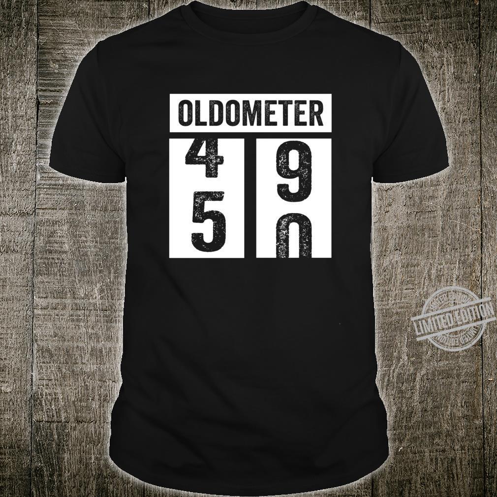 50. Geburtstagsgeschenkidee der Frauenfrauen Oldometer Shirt