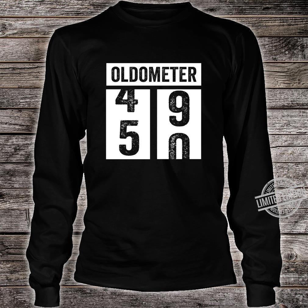 50. Geburtstagsgeschenkidee der Frauenfrauen Oldometer Shirt long sleeved
