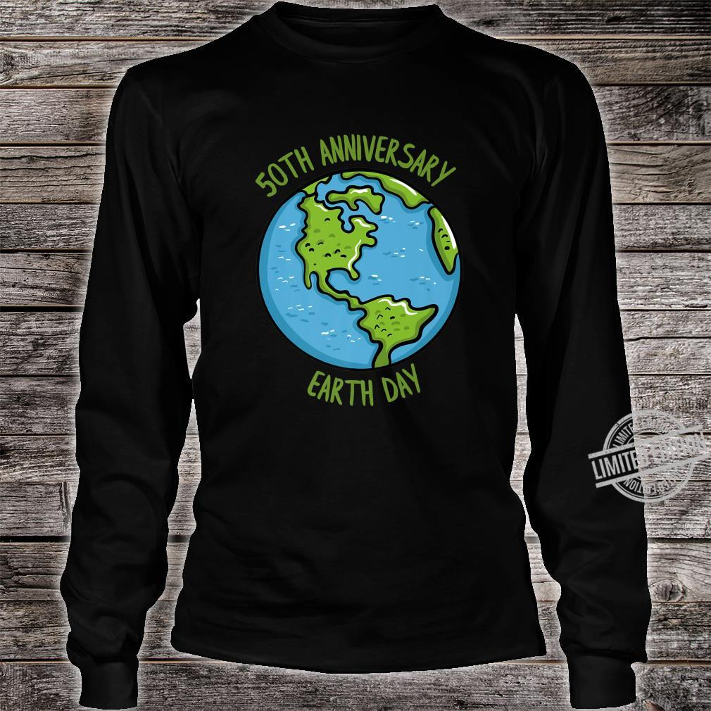 50th Anniversary Earth Day Celebration Climate Change Shirt long sleeved