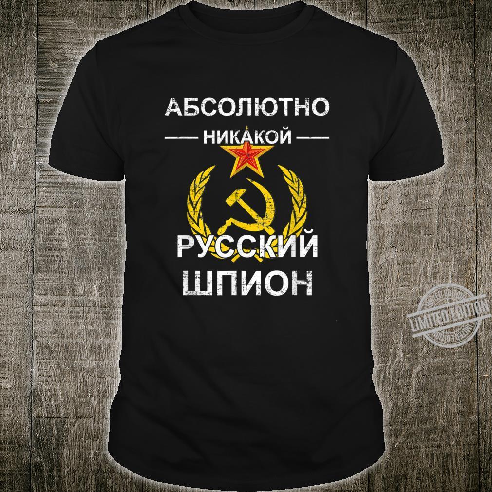 Absolut Kein Russischer Spion Kyrillisch Poltisches Geschenk Shirt
