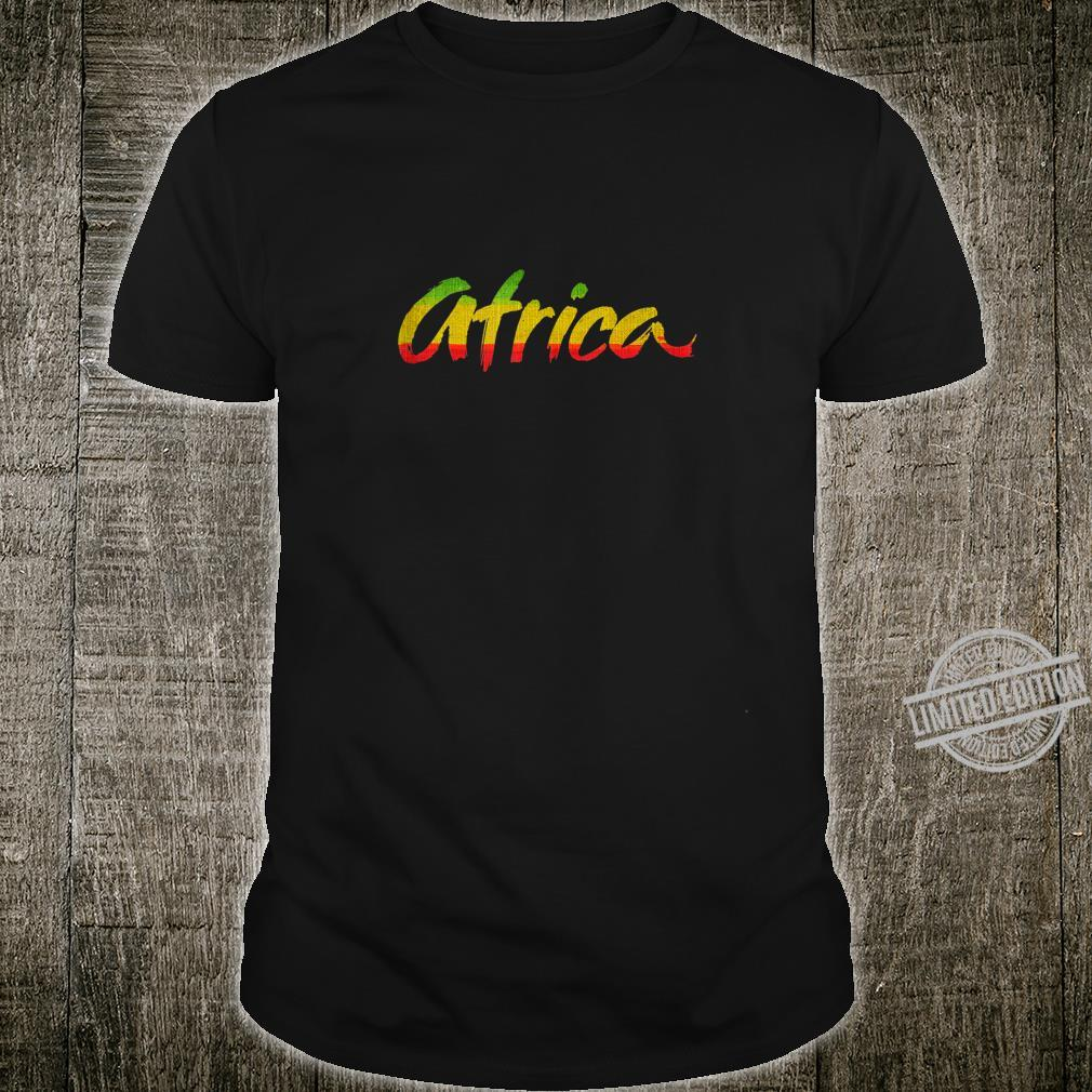 Africa Rasta Colors Reggae Shirt