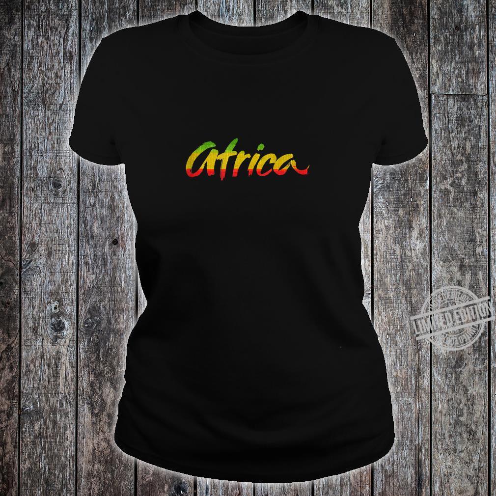 Africa Rasta Colors Reggae Shirt ladies tee