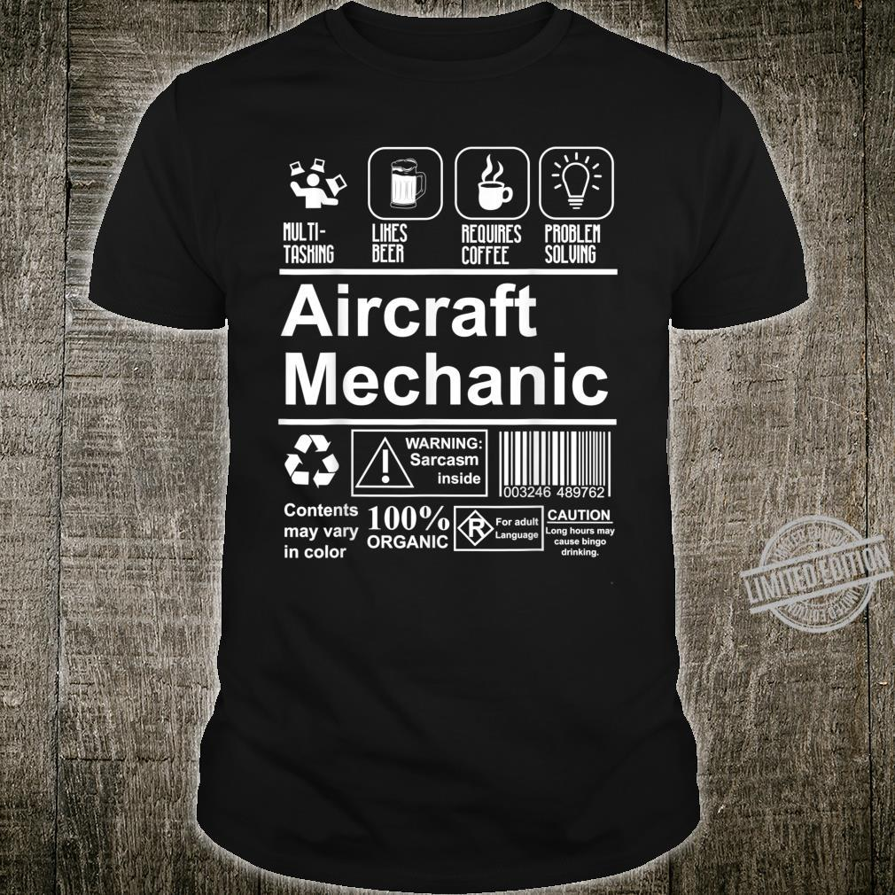 Aircraft Mechanic Cute Aircraft Work Shirt