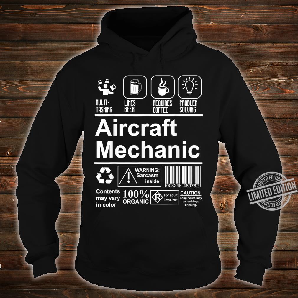 Aircraft Mechanic Cute Aircraft Work Shirt hoodie