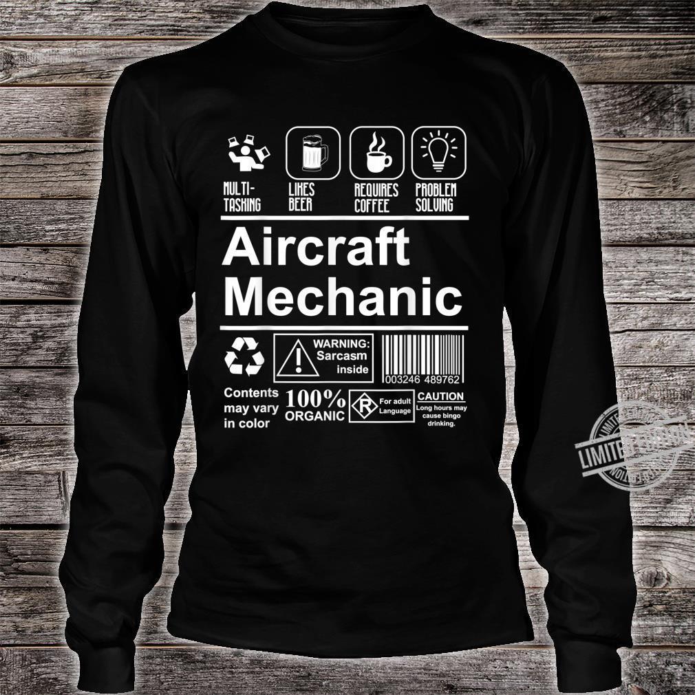 Aircraft Mechanic Cute Aircraft Work Shirt long sleeved