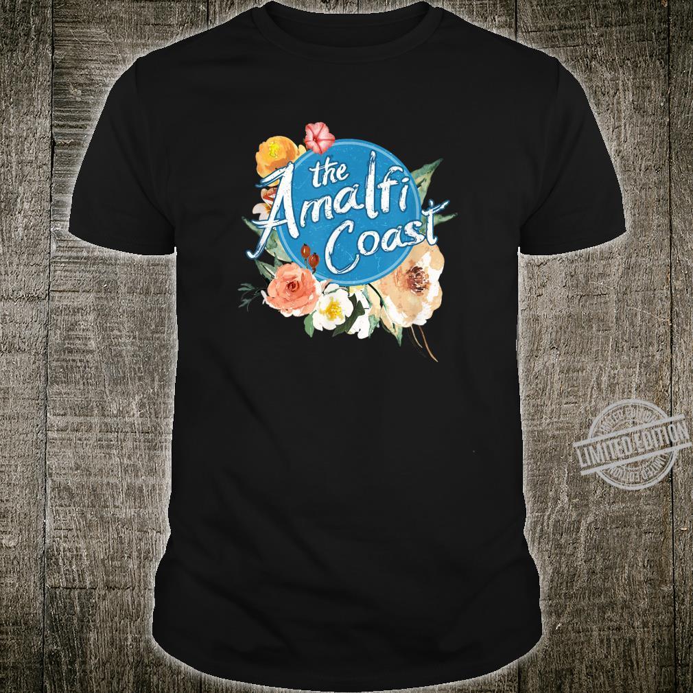 Amalfi Coast ITALY Italian Vintage Floral Shirt