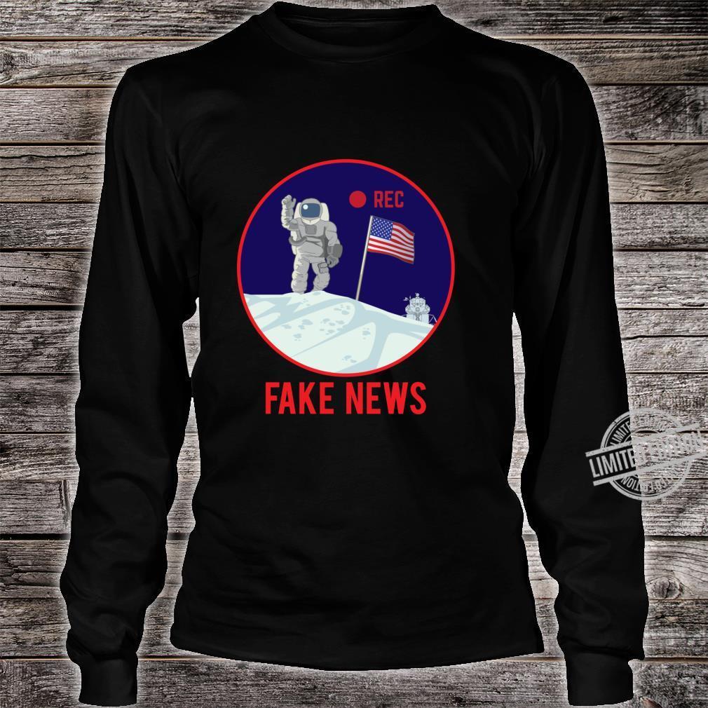 Apollo Moon Landing Hoax Conspiracy Theory Fake News Shirt long sleeved