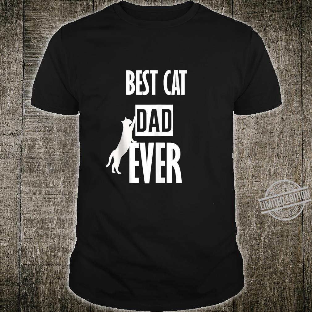 Best cat dad ever shirt kitty Shirt