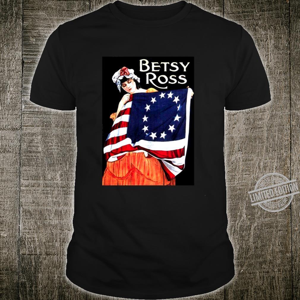 Betsy Ross American Flag Shirt Art Revolutionary War Flag Shirt
