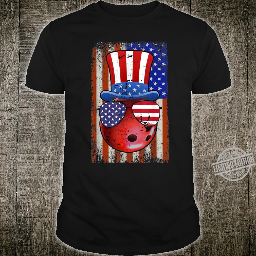 Bowling Ball American Flag 4th of July Shirt
