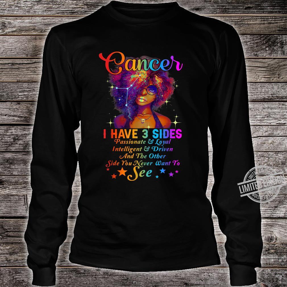 Cancer Girl Birthday Born in June & July Shirt long sleeved