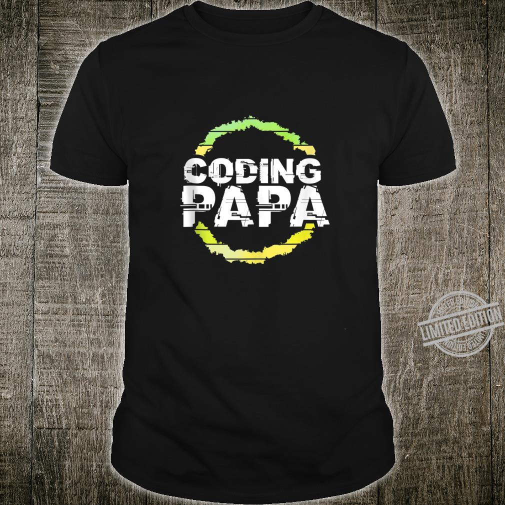 Coding Papa Artwork Shirt