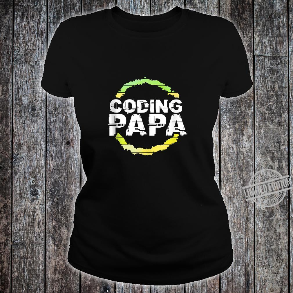Coding Papa Artwork Shirt ladies tee