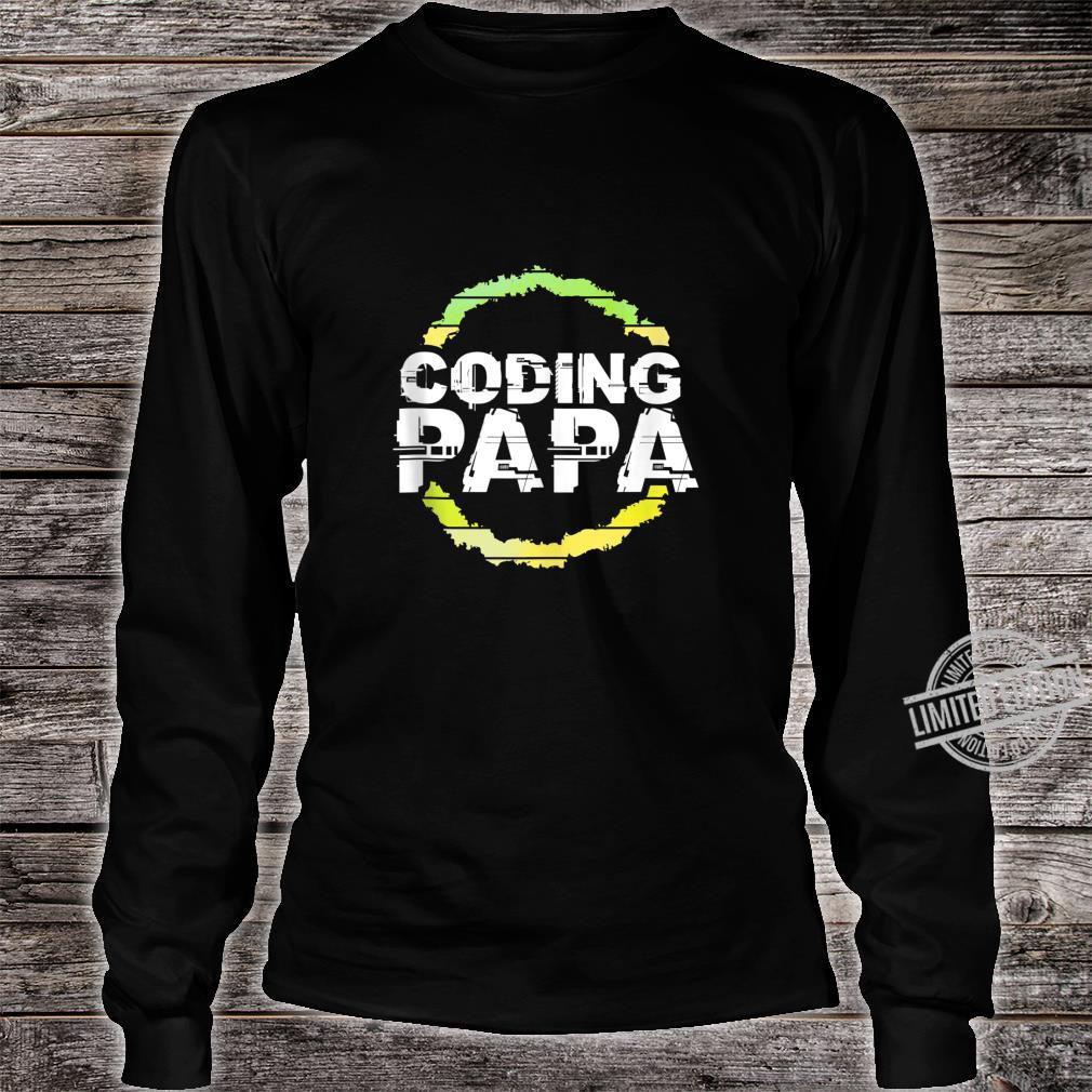Coding Papa Artwork Shirt long sleeved