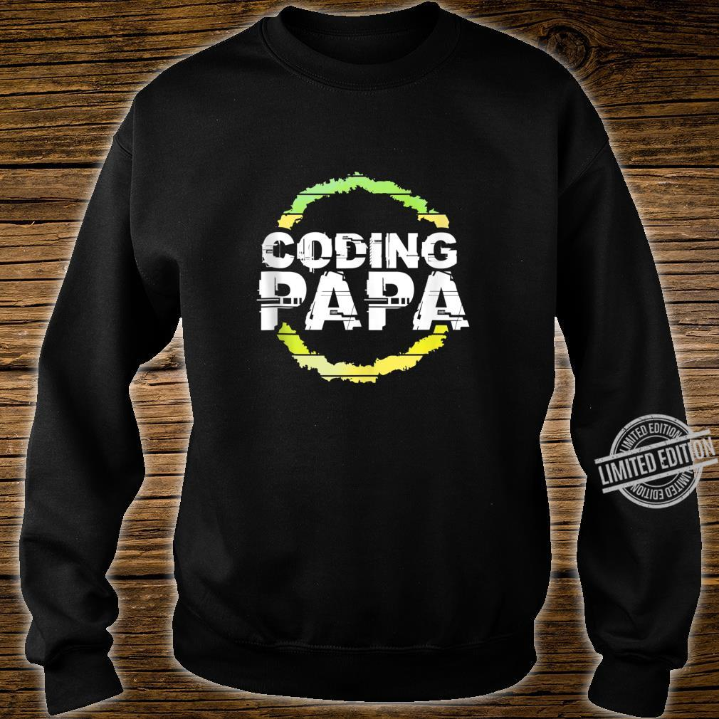 Coding Papa Artwork Shirt sweater