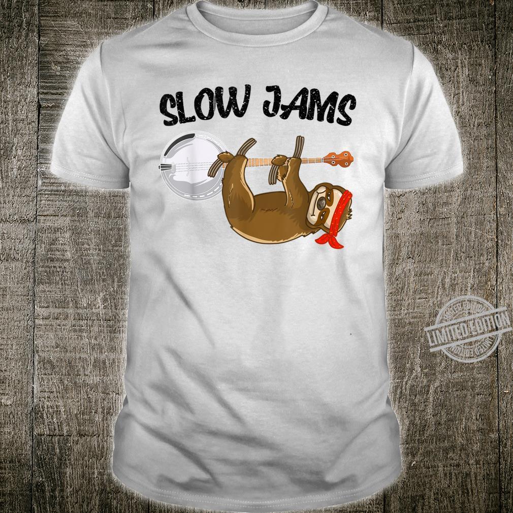 Cool Slow Jams Sloth Hanging On Banjo Bluegrass Shirt