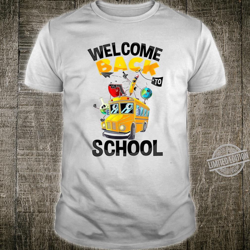 Cool Welcome Back To School Student Teacher Fan Shirt