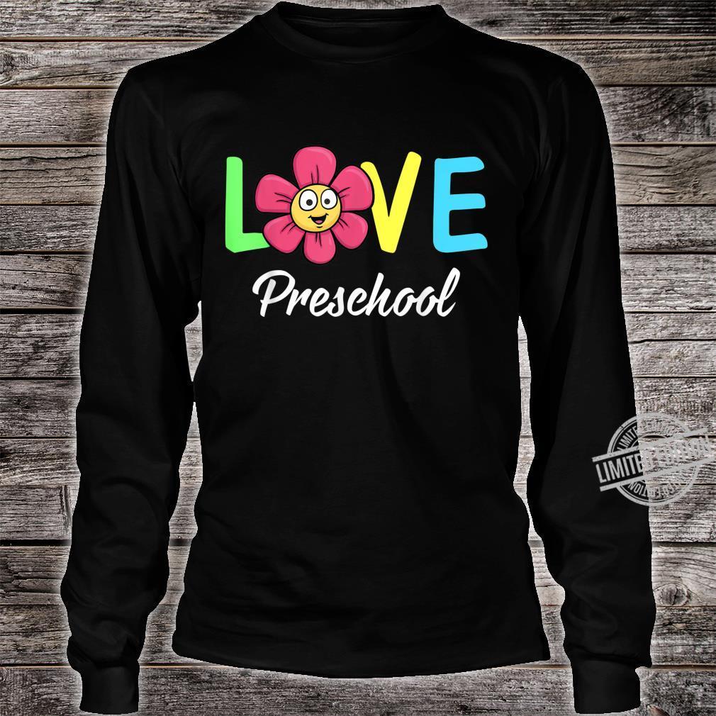Cute Love Preschool Teacher Costume Boys Girls Shirt long sleeved