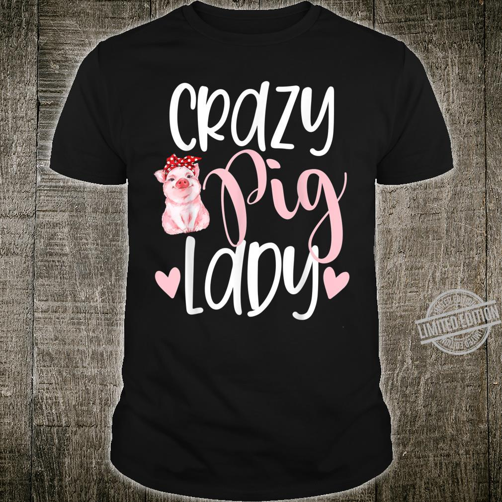 Cute crazy pig lady pigs piglets owner mom Shirt