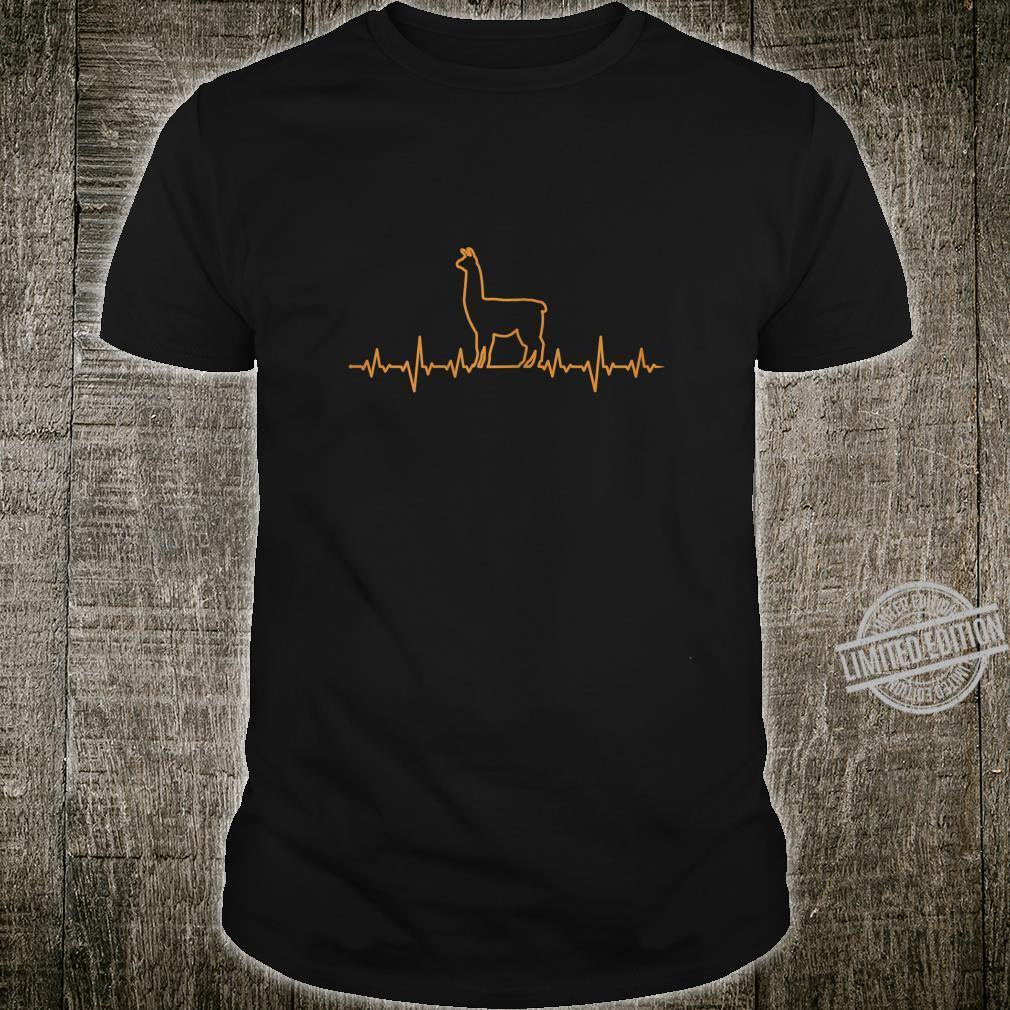 Damen Llama Herzschlag EKG Shirt