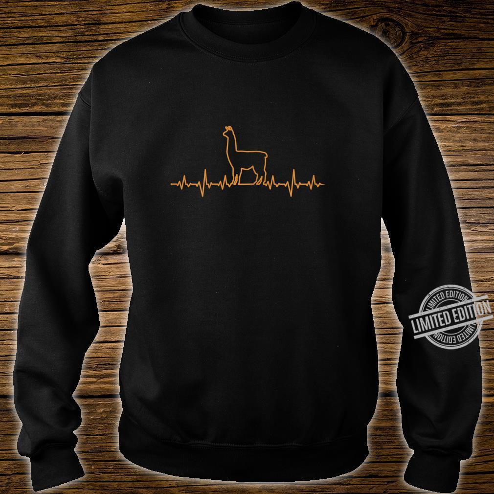 Damen Llama Herzschlag EKG Shirt sweater