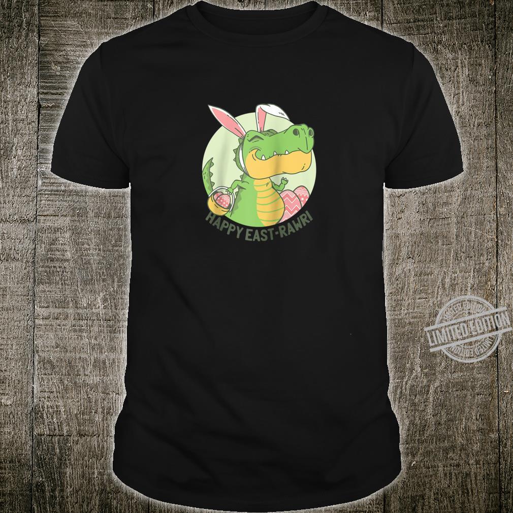 Easter T Rex Dinosaur easter Basket Rawr design Shirt