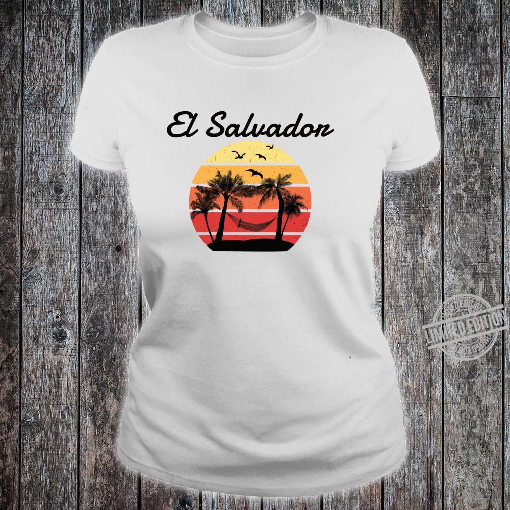 El Salvador Urlaub Palmen Paradies Shirt ladies tee