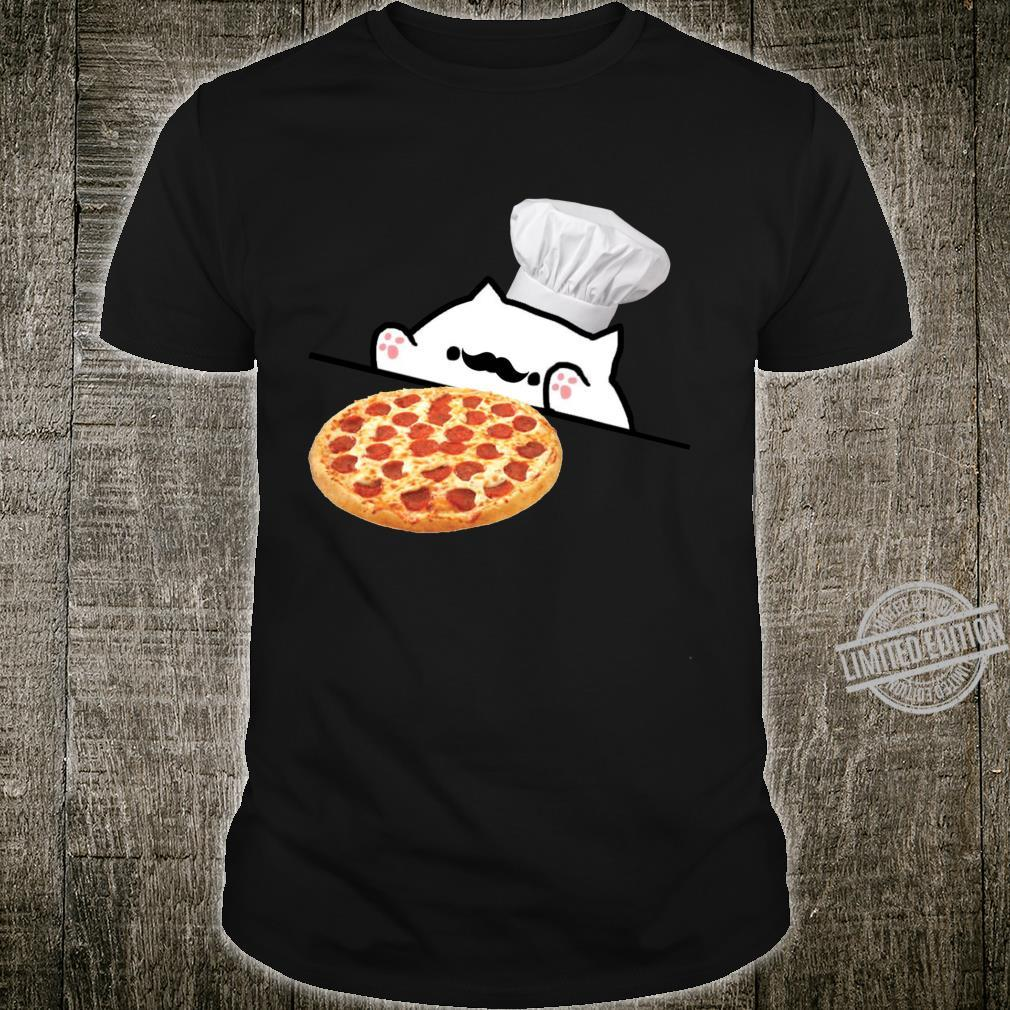 Funny Bongo Cat Pizza Chef Dank Memes Shirt