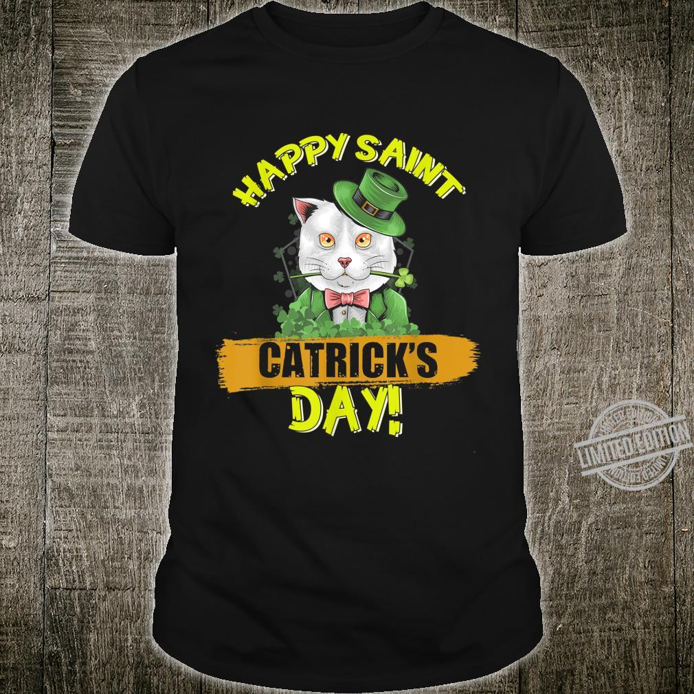 Funny Cat Happy Catricks Day Saint Patrick Shirt