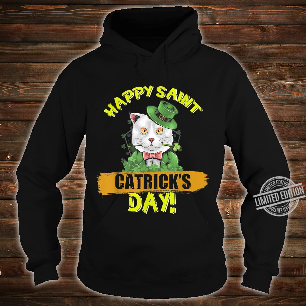 Funny Cat Happy Catricks Day Saint Patrick Shirt hoodie