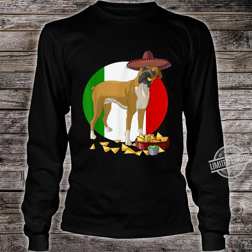 Funny Cinco De Mayo Mexican Boxer Dog Shirt long sleeved