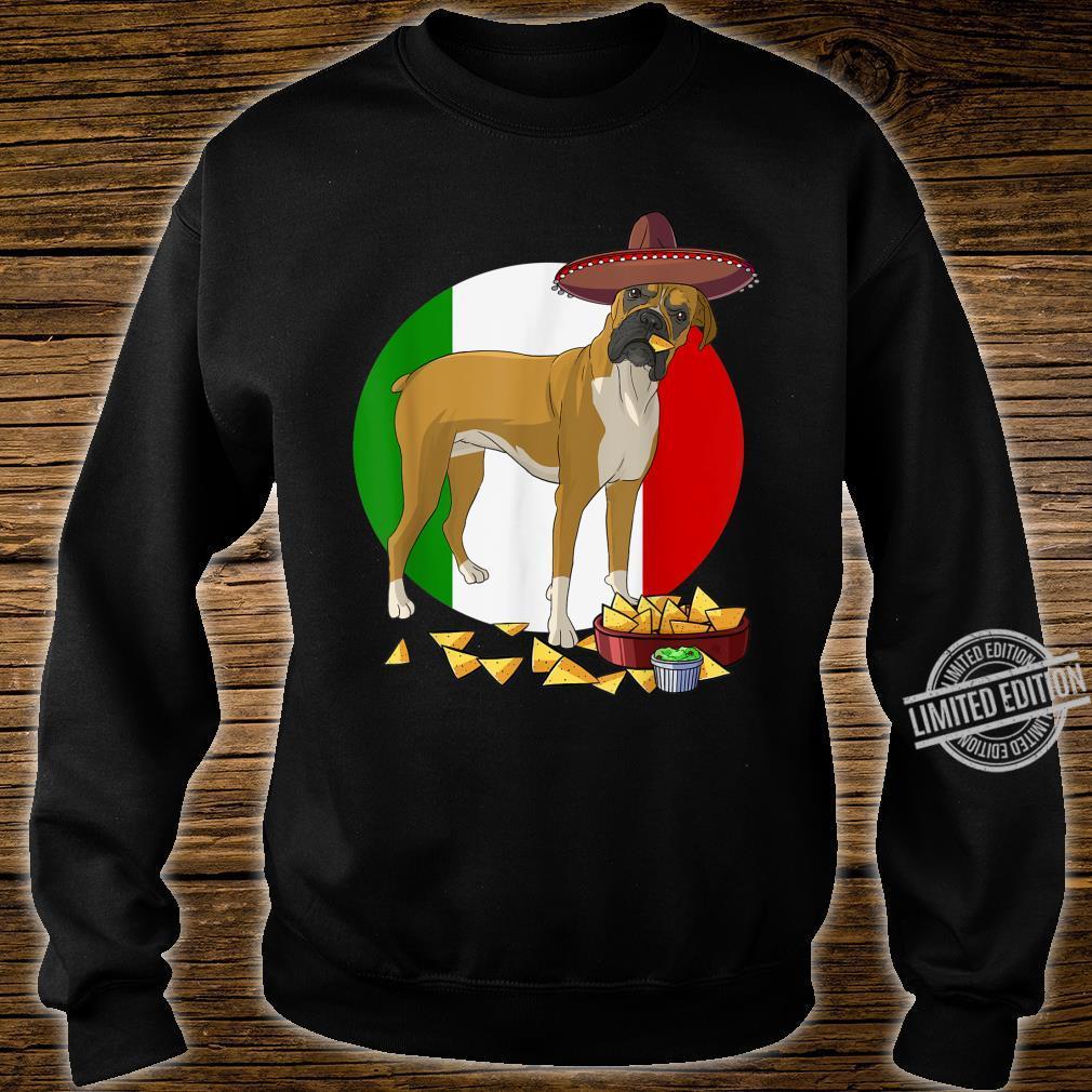 Funny Cinco De Mayo Mexican Boxer Dog Shirt sweater