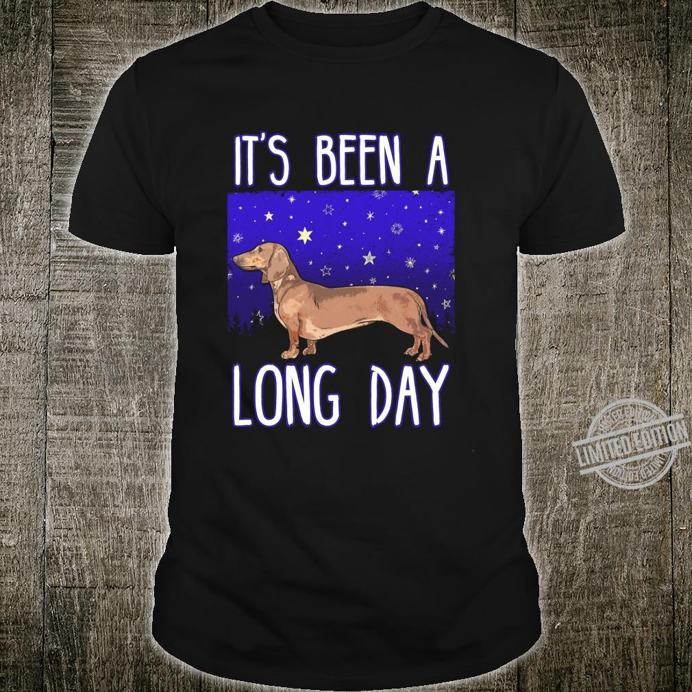 Funny Wiener Dog Doxie Dachshund It's Been A Long Day Shirt