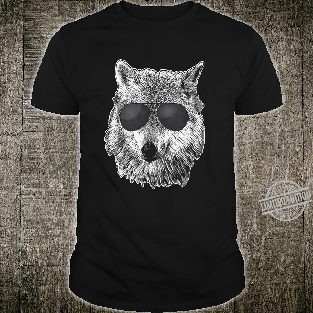 Graues Wolf Cooles Retro Sonnenbrillen WölfeLiebhaber Langarmshirt Shirt