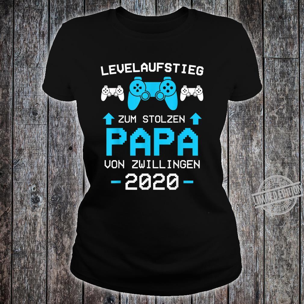 Herren Papa von Zwillingen 2020 Zwillinge Gamer Gaming Geschenk Shirt ladies tee