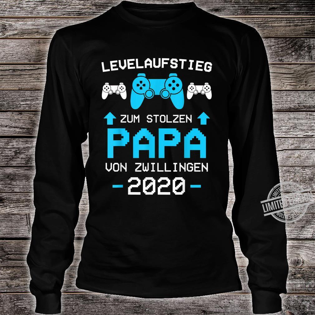 Herren Papa von Zwillingen 2020 Zwillinge Gamer Gaming Geschenk Shirt long sleeved