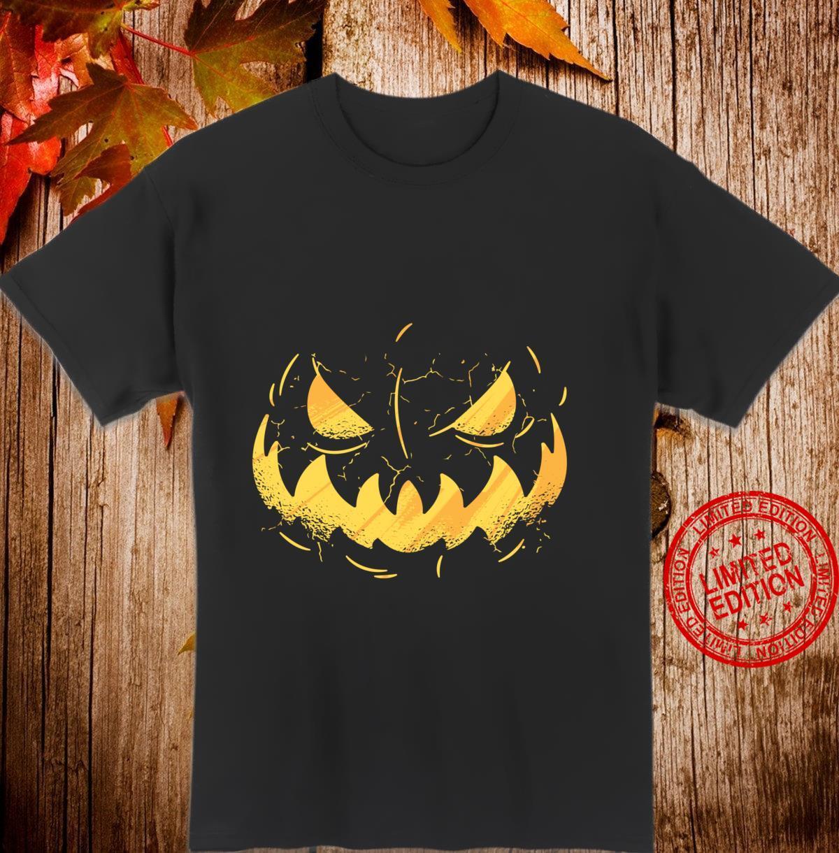 Jack O' Lantern Face Halloween Pumpkin Costume Unisex Shirt