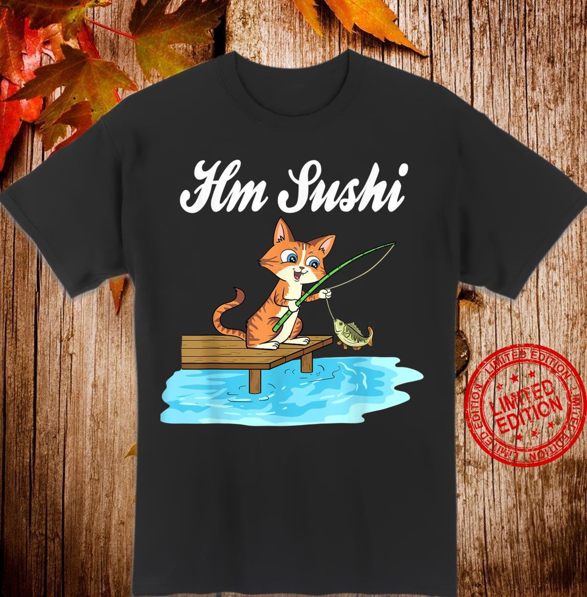 Katze Angeln Fisch Angler Mittagessen Essen Futter Shirt