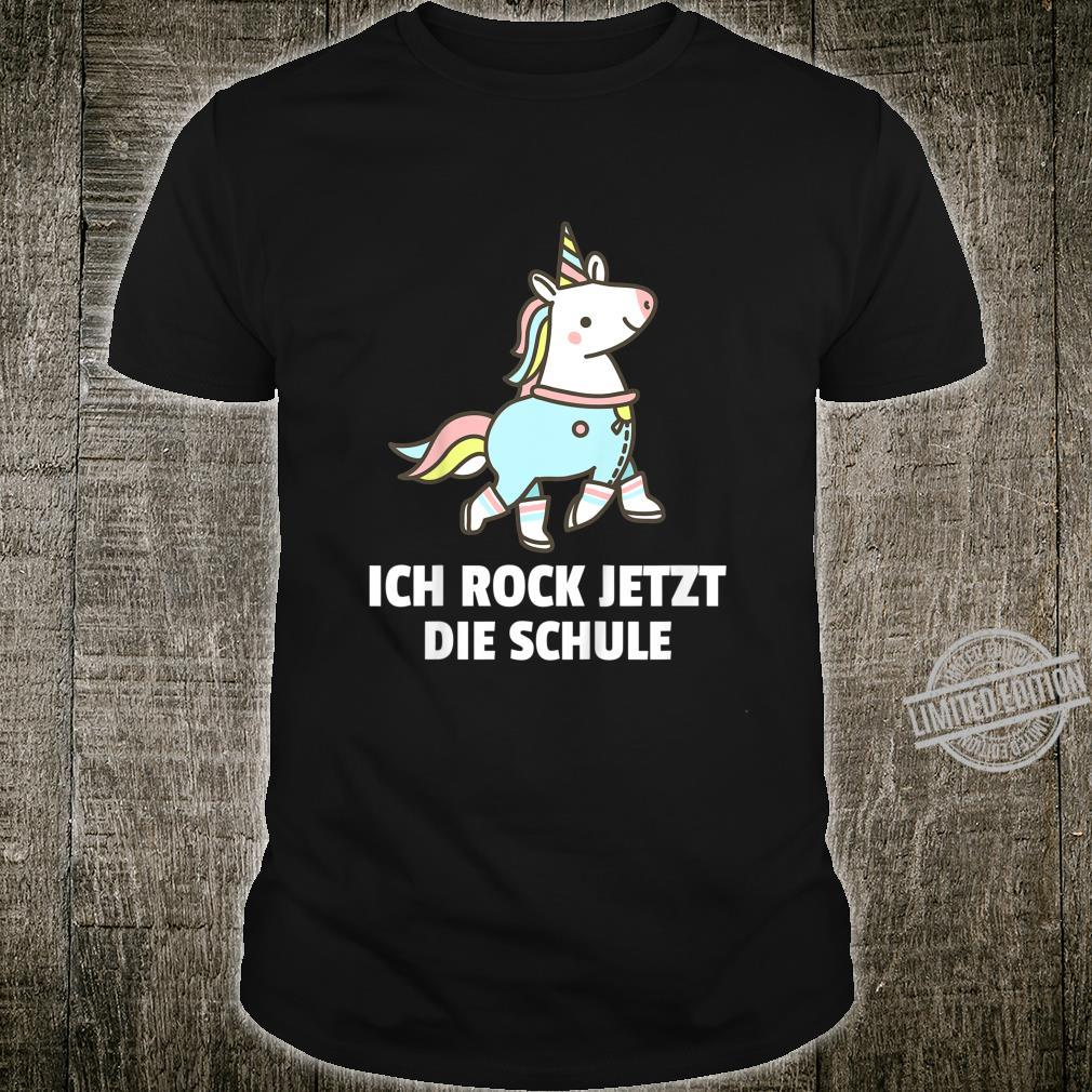 Kinder Einschulung Schulanfang Einhorn Schulkind 2020 Mädchen Shirt