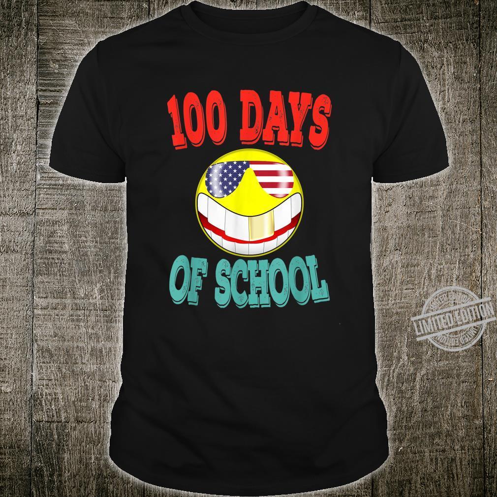 Laughing Emoji Happy 100th Day Of School Boys Girls Shirt