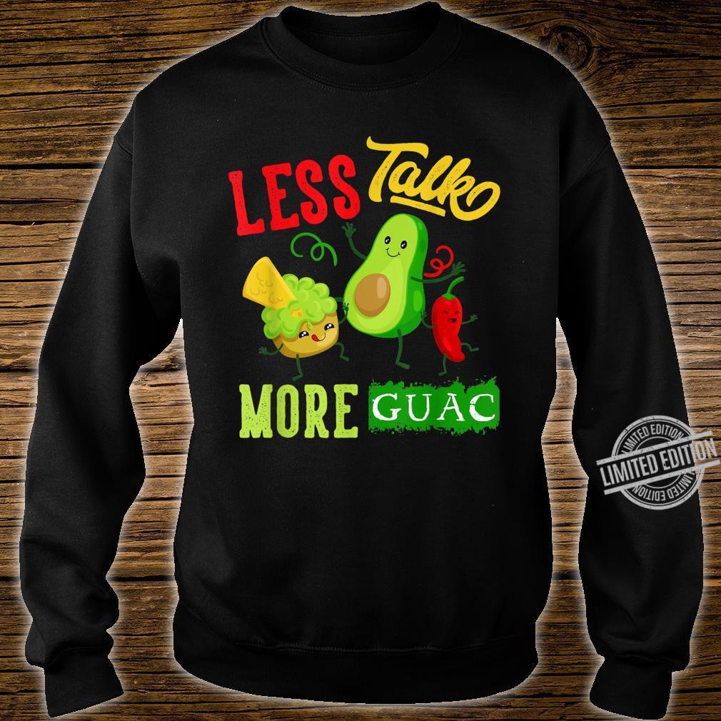 Less Talk More Guac Cute Kawaii Avocado Vegan Shirt sweater