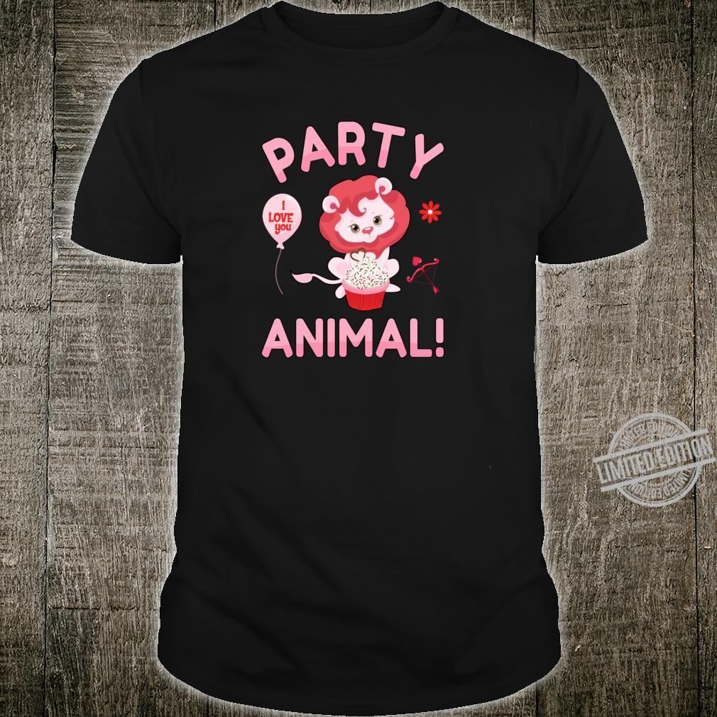 Lion Party Animal Valentines Day Lioness Girl Shirt