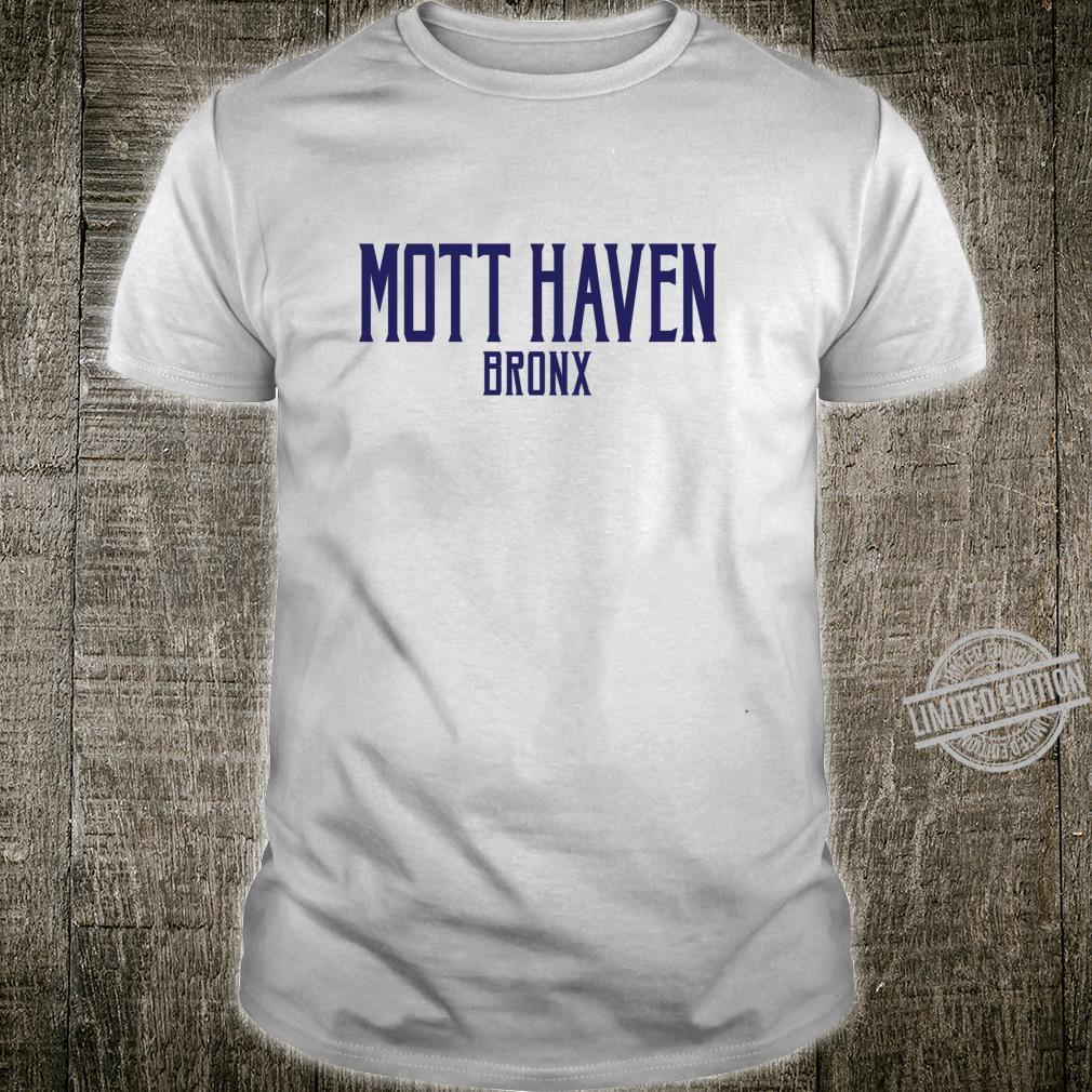 Mott Haven Vintage Text Navy Blue Print Shirt
