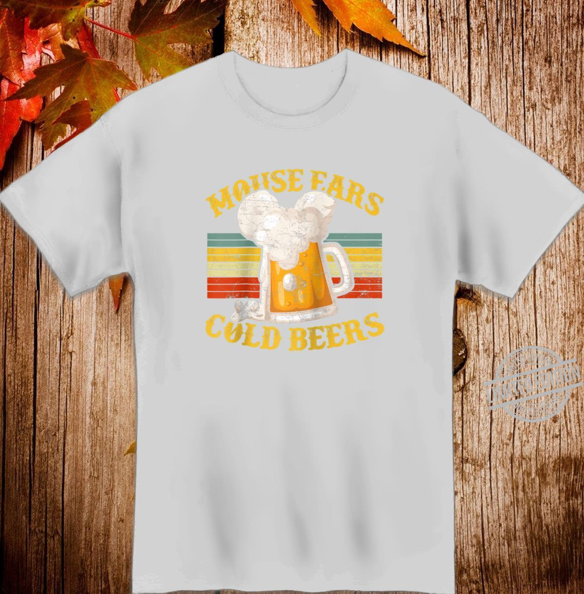Mouse Ears And Cold Beers Vintage Retro Beer Drinker's Shirt