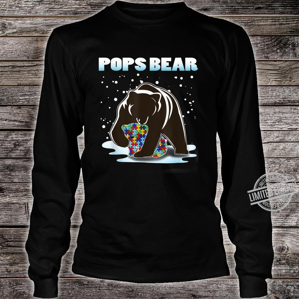 Pops Bear Bear Autism Awareness For Dad With Son Or Shirt long sleeved
