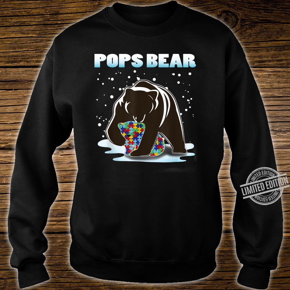 Pops Bear Bear Autism Awareness For Dad With Son Or Shirt sweater