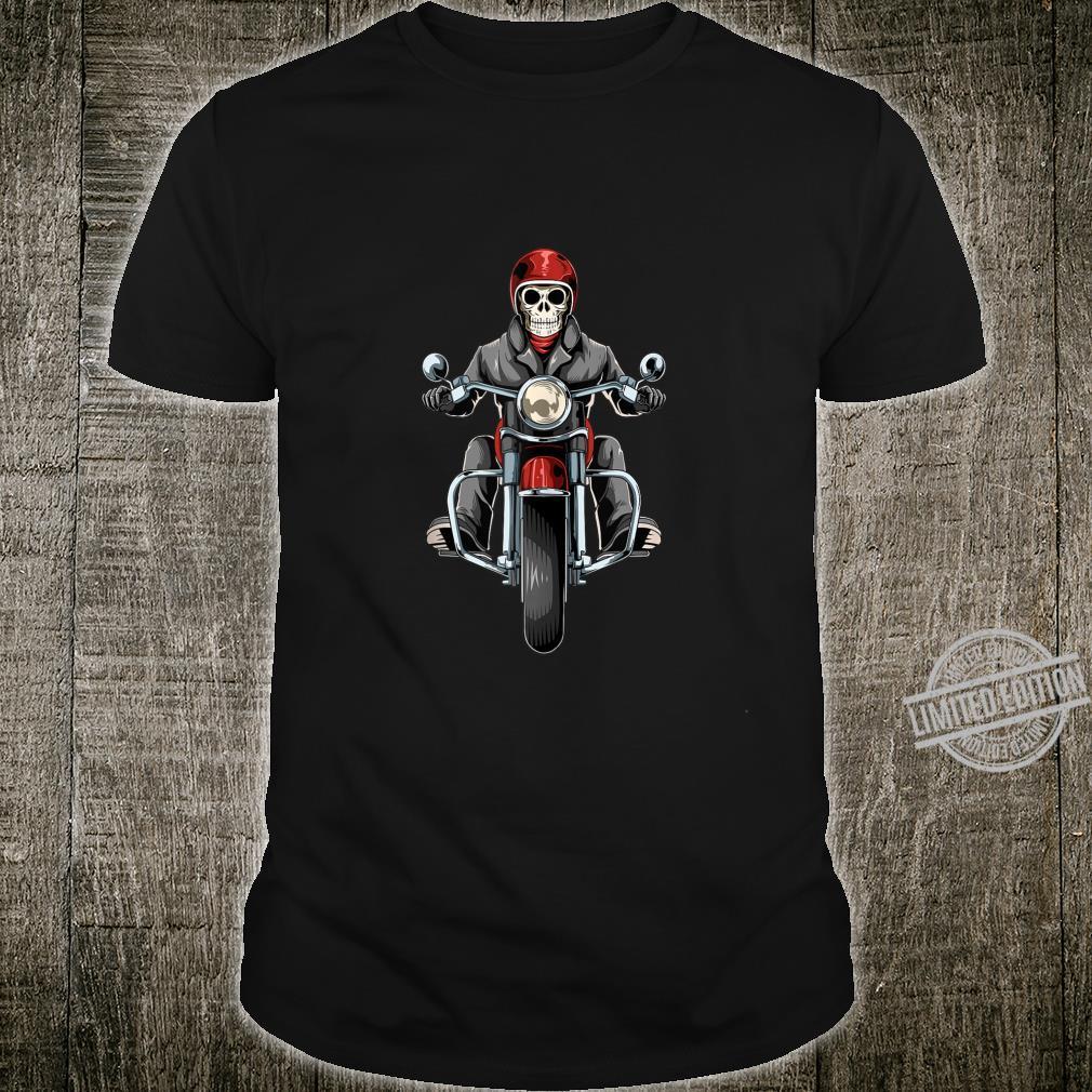 Skeleton Biker Old Retired Biker Shirt