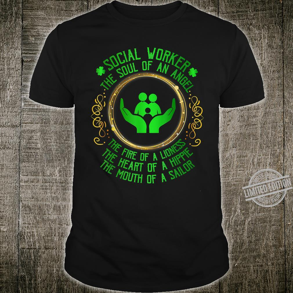 Social Worker The Soul Of An Angel St Patrick's Day Shirt
