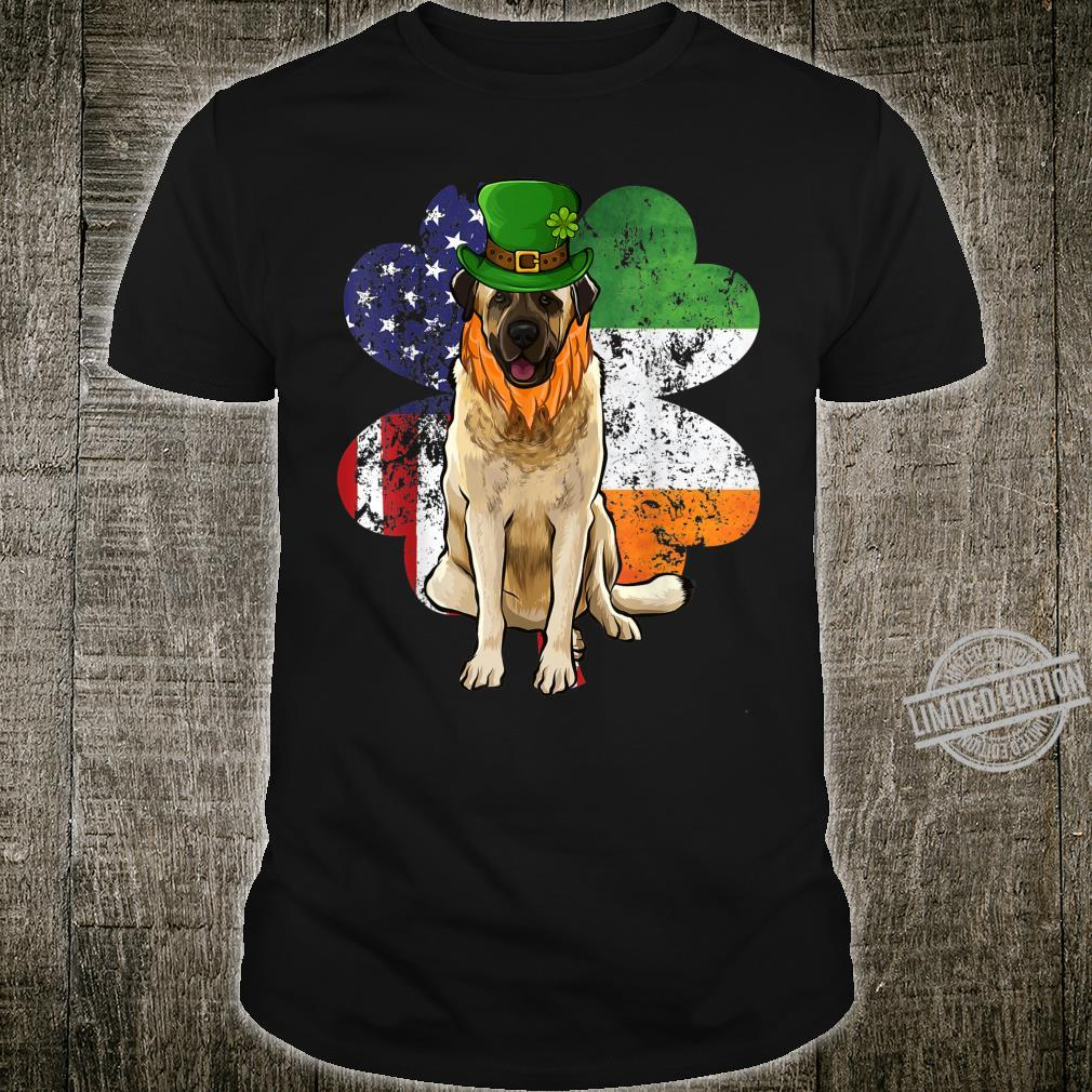 St Patricks Day Irish American Flag Anatolian Shepherd Dog Shirt